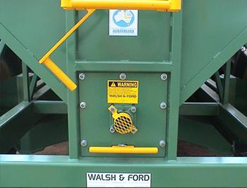 Rear of Grain Cart Showing warning stickers