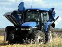 Grain Buggy auger unfolding.